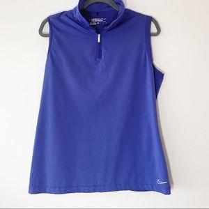 Nike Golf Half-zip Sleeveless Shell Indigo Size XL